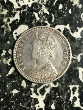 1897 India 1/4 Rupee Lot#L5637 Silver! Nice! Better Date!