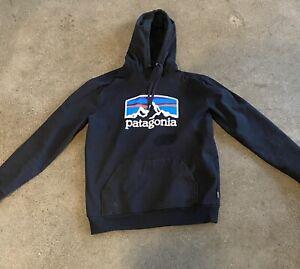 Patagonia hooded Sweatshirt Hoodie Men's Medium Black Cotton