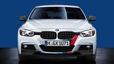 BMW OEM Performance F30 3-Series Front & Rear Tri-Color M Stripe Decal Set Sport