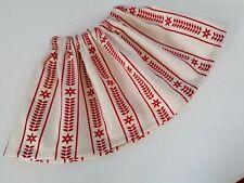 BJB Vintage Sasha dolls clothes, Pretty cream and red scandi pattern skirt #