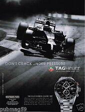 Publicité advertising 2014 Montre Tag Heuer Carrera Calibre 1887