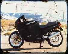 Ducati 907 Ie 5 A4 Metal Sign Motorbike Vintage Aged