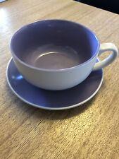 Large-Violet-Tasse-Mug - Soupe Bol et soucoupe-porcelaine-Bargain-pas de coups n...