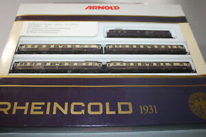 Arnold 0145 Passenger Car Set Rheingold DRG 1931 5-teilig N Gauge Boxed