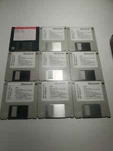 "9 pk Vintage 3.5"" Floppy Disks Microsoft Excel for Windows Version 5.0 Used."