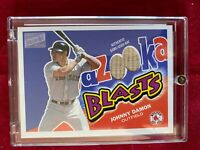 BBA-JD Johnny Damon Topps 2003 Archives Certified Autograph Game Used Bat Card