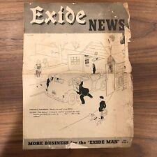 Vintage Exide Telephone Battery News Advertising - Art Harry Goff - Rare