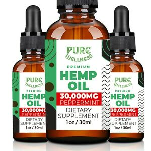 Hemp Seed Oil 30,000mg   Discover the Benefits of Hemp Seed Oil (3-Pack)