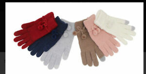 LADIES/MEN THERMAL 2.4 TOG HAND TOUCH SCREEN WINTER GLOVES SMART MOBILE PHONES