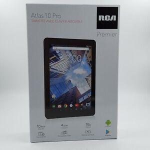 "RCA Atlas 10 Pro 10"" Android Tablet - Black - 16GB Quad Core Dual Camera HD w KB"