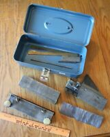 Planing Kit Industrial ? Planer blade brass knobs ? lathe Vintage parts tool box