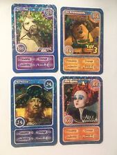 Morrisons Disney Magical Moments B6 H4 J4 K6 Barbossa Shiny Holo Trading Cards