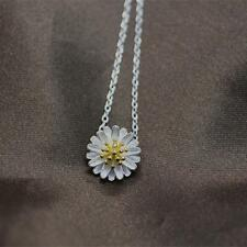 Flower Chrysanthemum Silver Plated Chain Daisy Necklace