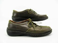 Josef Seibel Women Green Oxford Lace Up Shoe EUR 38 US 7.5M Pre Owned DH