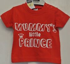 New M&Co boys 100% cotton T shirt Red 0-3 months