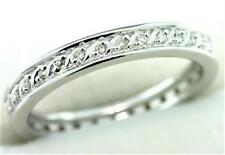 Natural 0.30ct Diamond 9K 9ct 375 Solid White Gold Never Ending Ring - Bravo