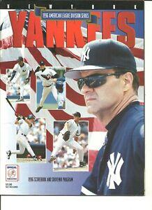 1996 American League Division Series New York Yankees Home Program Derek Jeter