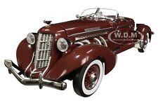 1935 AUBURN 851 SPEEDSTER PLUM BURGUNDY 1/18 DIECAST MODEL CAR AUTOWORLD AW262