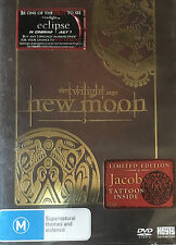 The Twilight Saga New Moon Limited Edition Jacob Tattoos Sealed Region 4 DVD VGC
