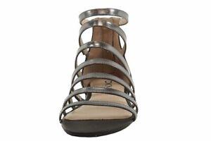 Donna Karan DKNY Women's Fay Black Gunmetal Fashion Sandals Shoes