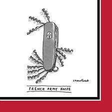 "Napkin/Beverage - ""French Army Knife"" - New Yorker Cartoon Design - Pkg of 20"