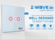 Z-Wave EU/US Z-Wave Touch Panel Wall Light Switch 2 Gang Vera Plus/Alexa