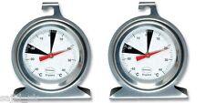 2x Brannan Premium 50mm Dial Stainless Steel Fridge Freezer Thermometer