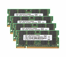 Tested RAM 4X 1GB 2RX8 PC2-5300 SODIMM Memory Laptop Intel DDR2 667Mhz 200pin 1H