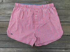 Lacoste Men Underwear Boxer Orange/White Plaid Cotton under Garments Size XL