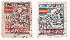 Sello Local Guerra Civil Coruña -Cat. Galvez y Sofina 247/249+11a.  ORD:924