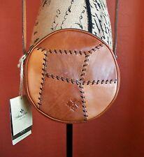 "PATRICIA NASH ""Positano Patchwork"" Round Leather Cross Body Shoulder Bag NWT"