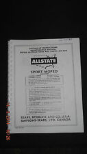 Sears Allstate Sport Moped Manual/Parts List [see for models] [3-10-3] 00067