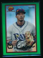 WANDER FRANCO 2019 Bowman Chrome 30th Anniversary GREEN REFRACTOR #/99 Rookie RC