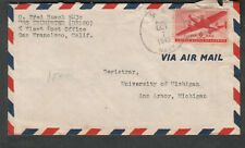 Oct 1945 at Pearl Harbor post WWII cover O Fred Busch EM 3/c USS Trumpeter DE180