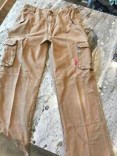 Men's 32 X 32 Cabela's Carhartt Work Pants 100% Cotton Elastic Waist Brown