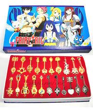Fairy Tail Lucy 21 Schlüssel Kette Set Anhänger Anime Cosplay Sammelbox Sammlung