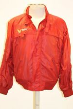 VINTAGE STYLE AUTO RACING WINSTON CUP SERIES RED WINNERS CLUB NEON JACKET Sz L