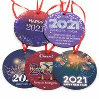 2021 Happy New Year Christmas Tree Pendant Ornament Fashion New Year's Day Decor