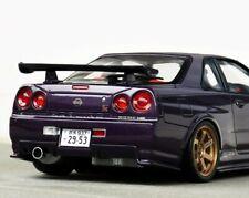 1/18 Nissan Nismo r34 Z Tune Midnight purple Modified tuning gold te37 umbau