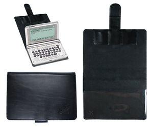 CalcCase Schutztasche für Franklin 1880 Serie & 1680 Serie schwarzes Leder
