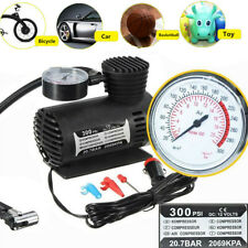 US 12V 300PSI Portable Mini Air Compressor Auto Car Electric Tire Air Inflator