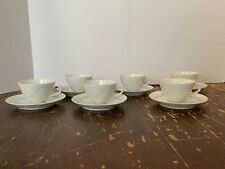 6 Vintage FRIEDL HOLZER-KJELLBERG Arabia Finland Rice Porcelain Cup and Saucer