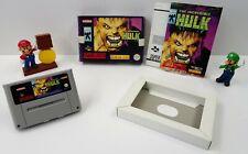 Super Nintendo SNES Spiel - The incredible Hulk + Anleitung + OVP - CIB