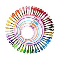 5pcs Plastic Frames Colors Embroidery Thread Needlework Sewing Hoop With Thread