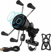 Motorcycle Wireless Phone Charger Mount with USB,10W Qi Fast...