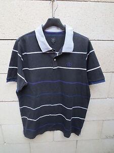 Polo ADIDAS noir rétro vintage trefoil shirt coton jersey L