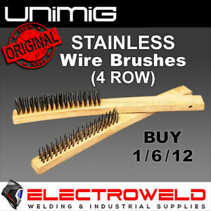Unimig Wire Hand Brush Mild or Stainless Steel Welding Metalwork Paint Rust WB4R