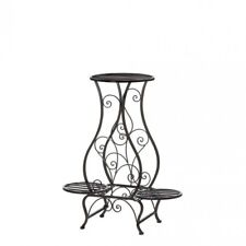 HOME DECOR WROUGHT IRON HOUR GLASS TRIPLE PLANT STAND