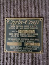 Vintage Original Chris Craft Algonac MI Brass Plaque Plate Sign Collectible