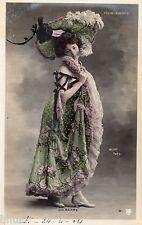 BD539 Carte Photo vintage card RPPC Femme woman Delbarre Folies Bergere Fashion